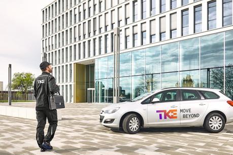 Un an après son rachat par trois sociétés, Thyssenkrupp Elevator a commencé à déployer sa nouvelle identité visuelle. (Photo: TKE)