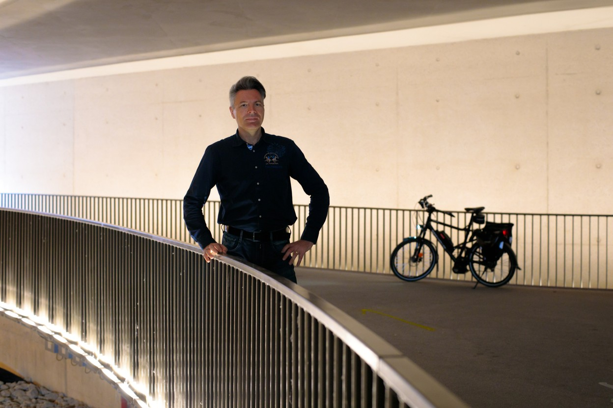 2019 archive photo shows Romain Gerson on the Adolphe Bridge cycle path MATIC ZORMAN