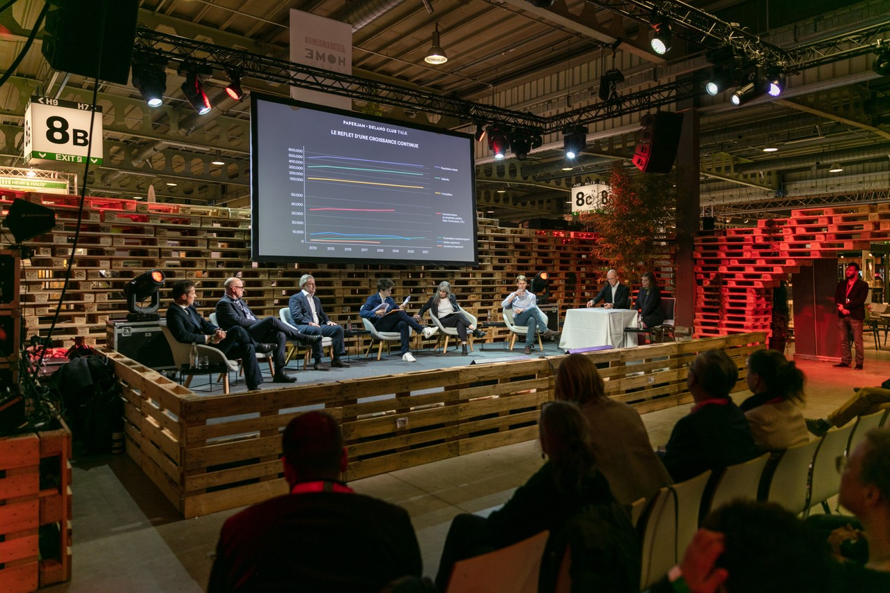 """300 people gathered on Wednesday, 13 October 2021, to attend the round table organised by the Paperjam + Delano Club on the theme """"Housing crisis: who's holding back?"""" (Photo: Romain Gamba/Maison Moderne)"""