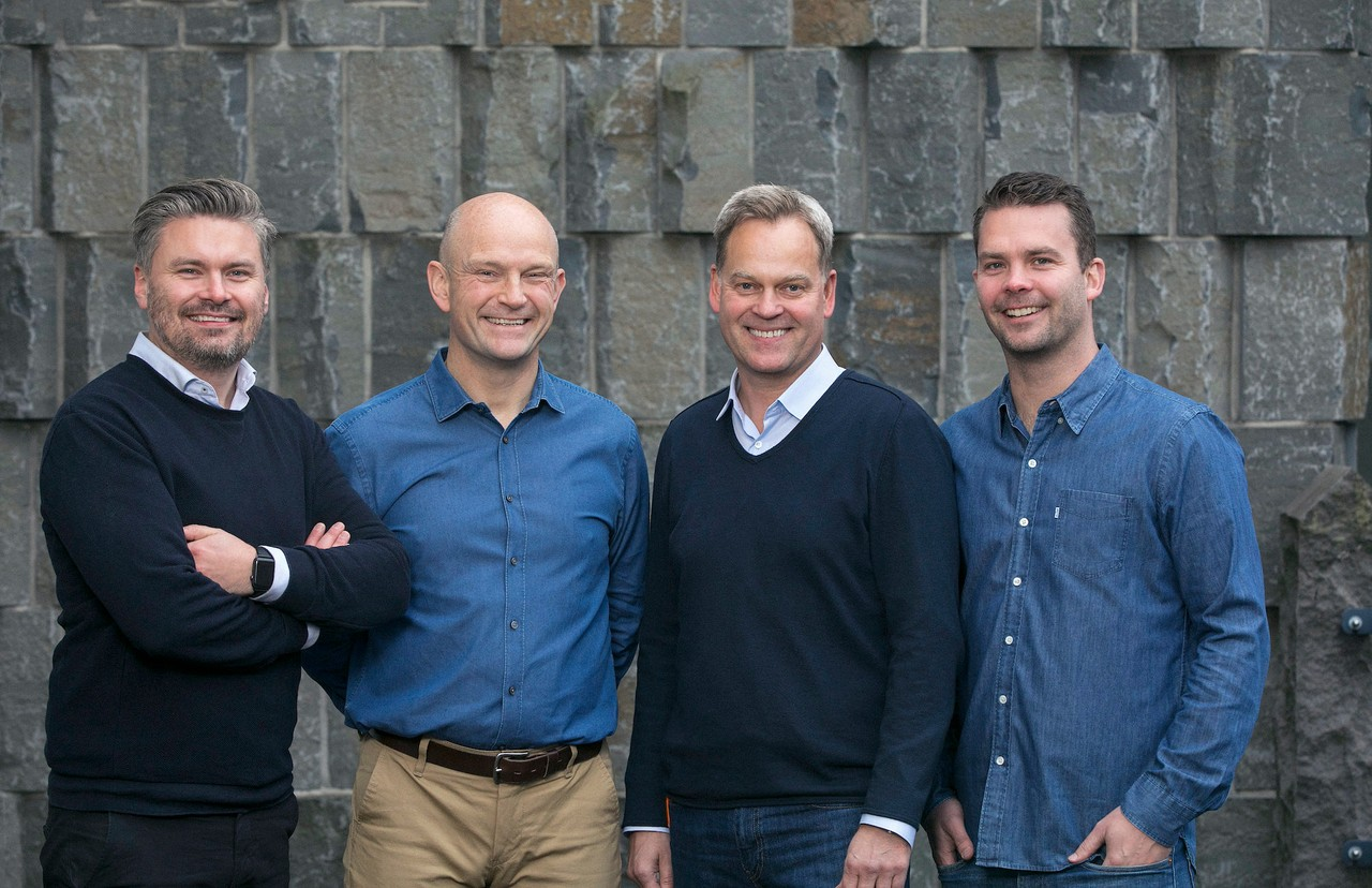 Hjörtur Hjartarson, Sveinn Valfells, Jón Helgi Egilsson and Gísli Kristjánsson: the four founders of Monerium (2016), a company with which Tokeny has just signed a major partnership. Photo: Monerium