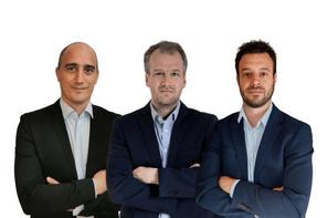 Les fondateurs de Tomorrow Services (de gauche à droite) : Yoan Moos, Quentin Pirmez et Guillaume Doyen  Tomorrow Services