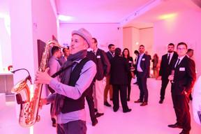 Mr Sasha (saxophoniste) a animé la soirée ((Photo: Total Luxembourg))