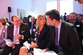 Fernand Etgen (Président de la Chambre des députés), Bernadette Spinoy (Total  Belgium ) et Lex Delles (Ministre des Classes moyennes et du Tourisme) ((Photo: Total Luxembourg))