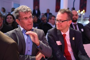 Prof. Dr. Werner Tillmetz (ZSW) et Dr Stephan Herbst (Toyota Motor Europe) ((Photo: Total Luxembourg))