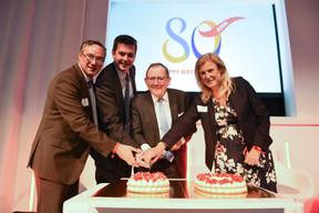 Patrick Schnell (Total Luxembourg), Lex Delles (Ministre des Classes moyennes et du Tourisme), Fernand Etgen (Président de la Chambre des députés) et Bernadette Spinoy (Total Belgium) ((Photo: Total Luxembourg))