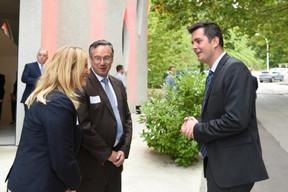 Bernadette Spinoy (Total Belgium), Patrick Schnell (Total Luxembourg) et Lex Delles (Ministre des Classes moyennes et du Tourisme) ((Photo: Total Luxembourg))