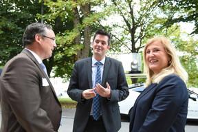 Patrick Schnell (Total Luxembourg), Lex Delles (Ministre des Classes moyennes et du Tourisme) et Bernadette Spinoy (Total Belgium) ((Photo: Total Luxembourg))