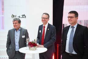 Prof. Dr. Werner Tillmetz (ZSW), Dr Stephan Herbst (Toyota Motor Europe) et Benjamin Frin (Arthur Welter) ((Photo: Total Luxembourg))