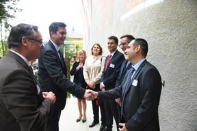 Patrick Schnell (Total Luxembourg), Lex Delles (Ministre des Classes moyennes et du Tourisme) et le comité exécutif de Total Luxembourg ((Photo: Total Luxembourg))