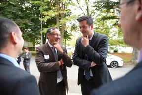 Patrick Schnell (Total Luxembourg) et Lex Delles (Ministre des Classes moyennes et du Tourisme) ((Photo: Total Luxembourg))