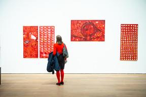 Vue de l'exposition Jutta Koether,  Tour de Madame ,16.02.2019 - 12.05.2019, Mudam Luxembourg (© LaLa La Photo, Keven Erickson, Krystyna Dul)