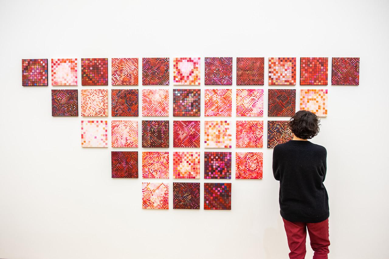 Vue de l'exposition Jutta Koether, Tour de Madame , 16.02.2019-12.05.2019, Mudam Luxembourg © LaLa La Photo, Keven Erickson, Krystyna Dul