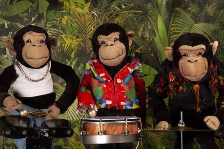 LesChimpancheezee participent à un atelier photo qui donne la banane! (Photo: Rotondes)