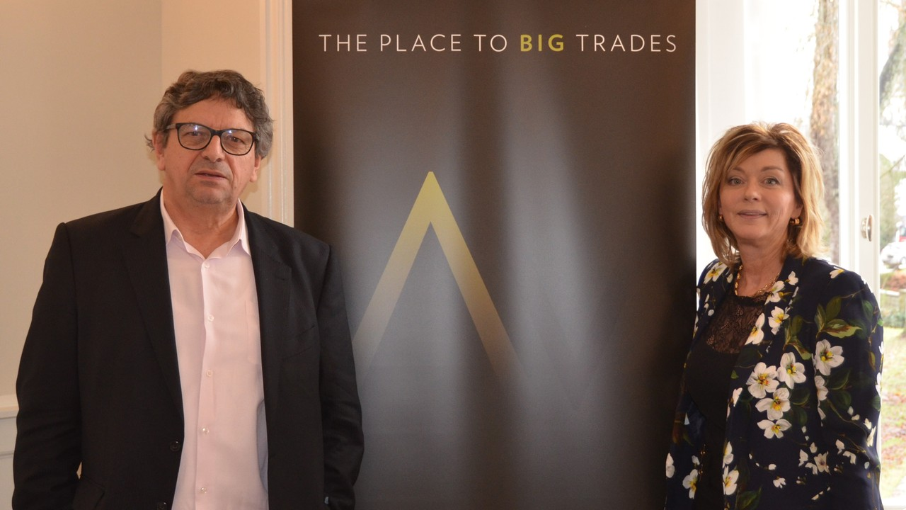 Marc Theisen et Fabienne Fontaine, à l'occasion de la présentation de Tradavenue, une nouvelle plate-forme immobilière.  (Photo: Tradavenue)