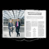 Bruno Houdmont (CEO au Luxembourg) et Bruno Colmant (CEO de la banque belge) de la banque Degroof Petercam. ((Photo: Andrés Lejona/Maison Moderne))