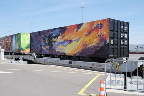Les deux wagons luxembourgeois qui rejoignent le Noah's Train. (Photo: CFL)