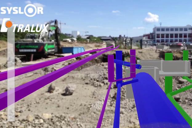 Syslorlux a développé un logiciel qui permet de visualiser les réseaux enterrés sur les chantiers. (Photo: Tralux/Syslorlux)