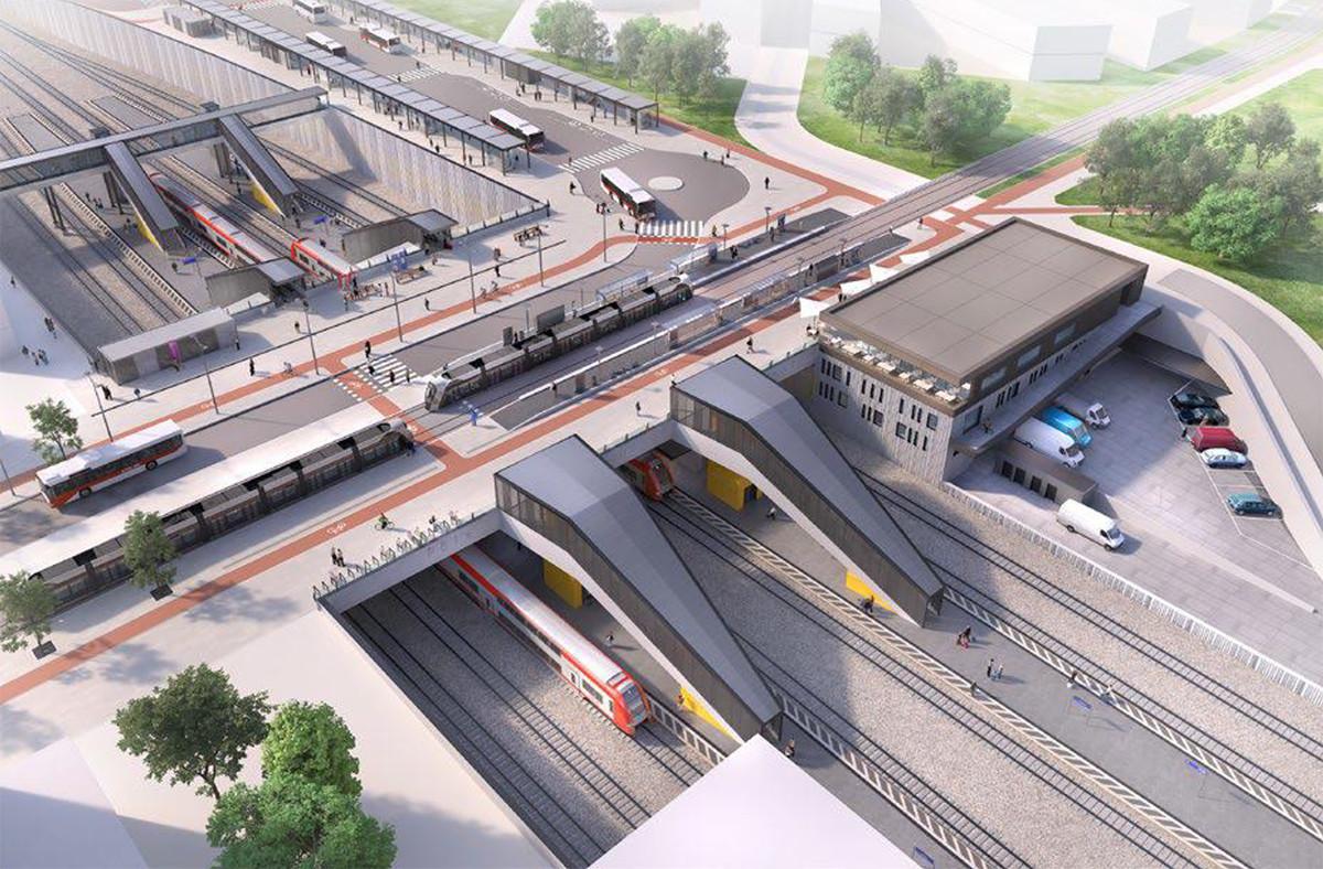Les travaux d'extension de la ligne de tram jusqu'à Howald, où sera érigé ce pôle d'échange, devraient être finalisés au second semestre 2023. (Photo: Ministère de la Mobilité et des Travaux publics)