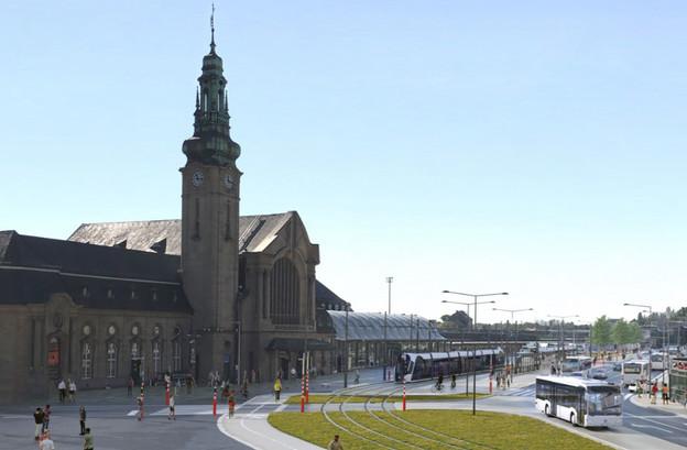 Le tram débutera ses essais sur ce nouveau parcours dès le 5 octobre prochain. (Photo: Luxtram)
