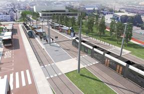 Plus qu'un simple arrêt,Lycée Bouneweg constituera aussi un pôle d'échange multimodal. ((Photo: Administration des ponts et chaussées))