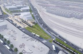 La future nouvelle N3 où circulera le tram débouchera sur le tunnel Rangwee puis la rue des Scillas, à Howald. ((Photo: Administration des ponts et chaussées))