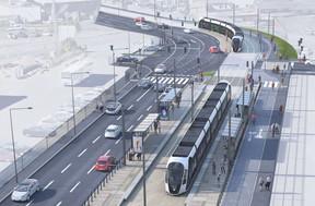 Actuellement la cadence est d'un tram toutes les 4 minutes mais Luxtram ambitionne de la porter à 3 minutes une fois que la ligne sera complète. ((Photo: Administration des ponts et chaussées))