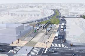 Image de synthèse de la prolongation du tramway à Bonnevoie. ((Photo: Administration des ponts et chaussées))