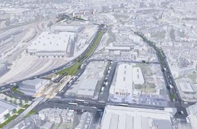 En bas à gauche, l'arrêtLycée Bouneweg sera en réalité distant d'une centaine de mètres du lycée technique de Bonnevoie. ((Photo: Administration des ponts et chaussées))