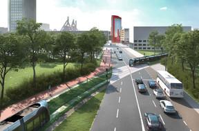 La future entrée de ville àBelval, au niveau Porte des Sciences - Porte de France. ((Photo: Bureau Schroeder & Associés))