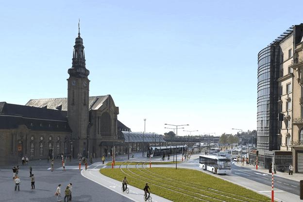Le quartier de la gare va voir disparaître les colonnes de bus au profit du tramway, nouvelle épine dorsale de la mobilité dans la capitale. (Visuel: Luxtram)