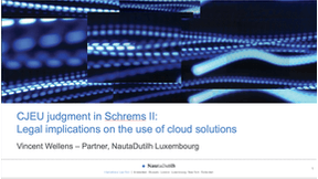 CJEU judgment in Schrems II: Legal implications on the use of cloud solutions (NautaDutilh )