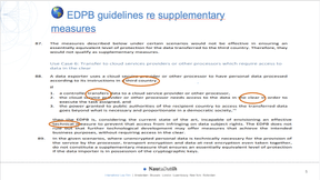 EDPB guidelines re supplementary measures (NautaDutilh)