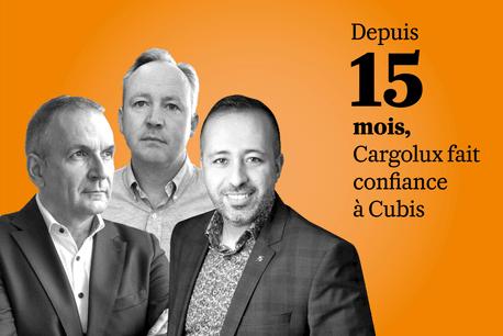 Manuel Correia,DirectorBusinessIntelligence chez Cargolux, Soufiane Boulaamayl, Managing Director et Lennart De Graeve, Manager de projet Cargolux chez Cubis. Cubis/Cargolux