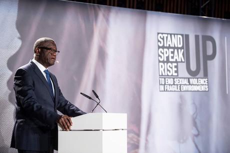 Le gynécologue, surnommé «l'homme qui répare les femmes», a également évoqué l'idée de créer un Fonds global de réparation des victimes.  (Photo: Anthony Dehez)