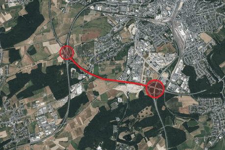 Les travaux se dérouleront sur l'autorouteA6, entrela croix de Cessange et la croix de Gasperich. (Photo: Capture d'écran/Geoportail.lu)
