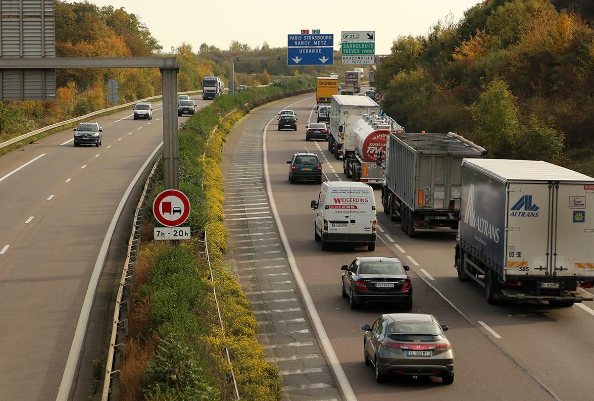 Afin de procéder à des travaux de réparation, l'autoroute sera coupée cette nuit entre 21h et 5h30 du matin dans le sens Luxembourg-Metz, à hauteur de l'échangeur 37.1 de Guénange. (Photo:www.a31bis.fr)