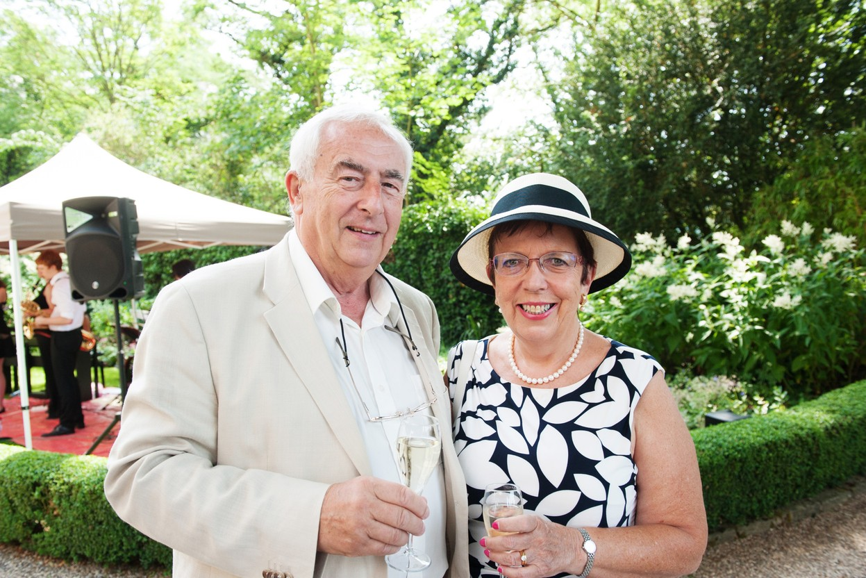 Chris Garratt with wife Carolyn in 2017 at the British embassy during a reception to mark Queen Elizabeth's birthday © LaLa La Photo, Keven Erickson, Krystyna Dul
