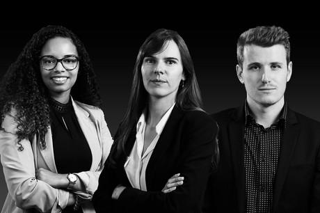 Me Alessandra Medina, Me Héloïse Cuche et Me Quentin Martin ont été promus début juin. (Photo : DSM)