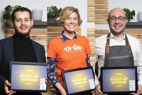 Zied Tayeb (MyelinH),Michelle Glorieux (Ta-Da!) et MatteoRessa (ChefPassport). (Photo: Simon Verjus/Maison Moderne)