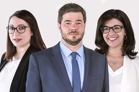 Virginie Liebermann, Régis Muller et Sophie Lamothe ont bénéficié d'une promotion estivale. (Photos: Molitor – Montage: Maison Moderne)