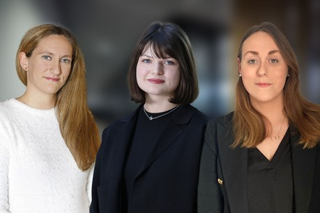 Samantha Matthey, Joy Peynet et Ailbhe Kilcullen avancent au sein du cabinet PwC Legal. (Photos : PwC Legal)