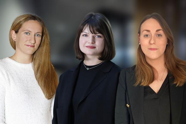 SamanthaMatthey, Joy Peynet et Ailbhe Kilcullen avancent au sein du cabinet PwC Legal. (Photos : PwC Legal)