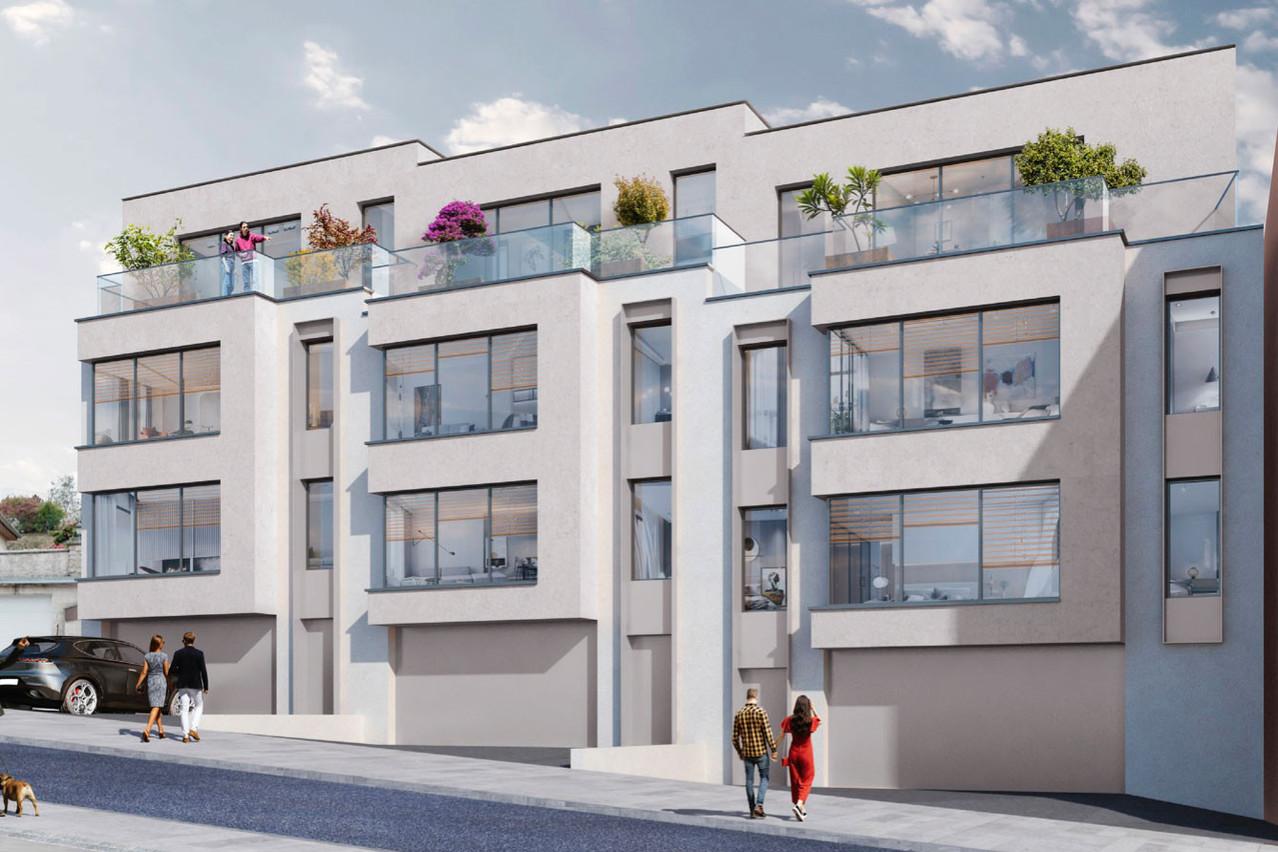 Ces futures résidences se situeront au 10, rue des Carrières à Luxembourg. (Illustration: CIAS)