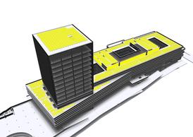 Sur les toits, plus de 2.200m² de panneaux photovoltaïques seront installés. ((Illustration: BEI))