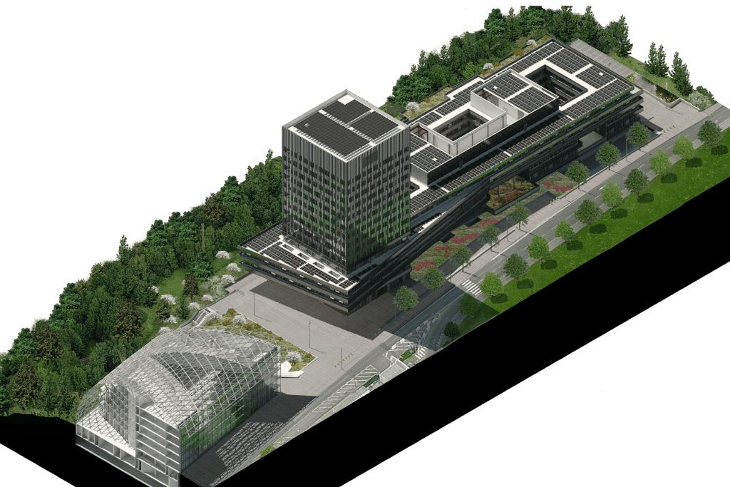 Un troisième bâtiment va accueillir les équipes de la BEI. (Illustration: BEI)