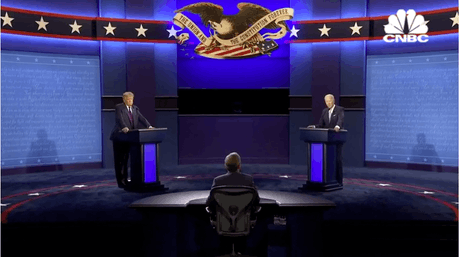 Les deux candidats septuagénaires se sont affrontés de manière virulente à 35 jours du scrutin. (Capture d'écran CNBC)