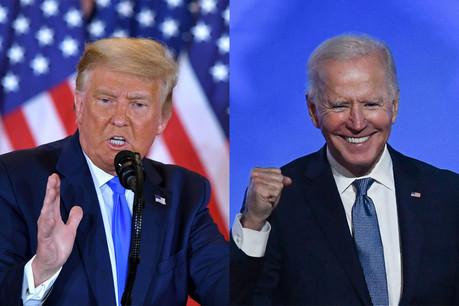 Les deux candidats à la présidentielle sont au coude-à-coude dans plusieurs États. (Photos: Shutterstock)