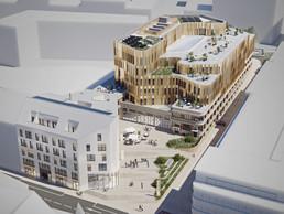 C'est un nouvel ensemble urbain qui verra le jour à l'horizon 2024. ((Illustrations: IKO Real Estate-Thomas & Piron))