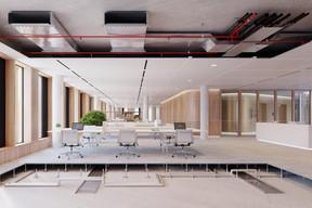 Vue des techniques qui seront implantées dans les bureaux. ((Illustrations: IKO Real Estate-Thomas & Piron))