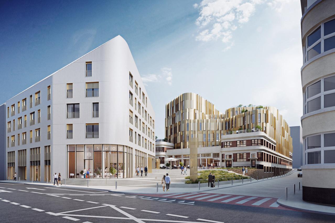 Le 21 rue de Hollerich affichera prochainement un tout nouveau visage. (Illustration: IKO Real Estate – Thomas & Piron)